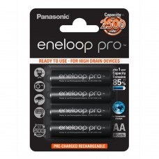 Panasonic  Eneloop Pro AA 2500mAh instant akkumulátor  4db/bliszter (BK-3HCDE/4BE)