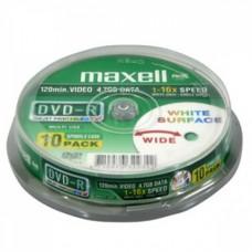 Maxell DVD+R 4,7GB nyomtatható DVD lemez 10db/henger