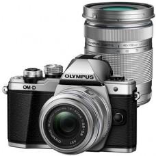 Olympus E-M10II DZK KIT (E-M10II váz + EZ-M1442 IIR + EZ-M4015 R) ezüst/ezüst/fekete