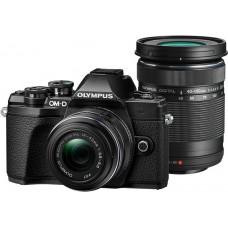 Olympus E-M10III DZK KIT (E-M10III váz + EZ-M1442 IIR + EZ-M4015 R) fekete/fekete/fekete