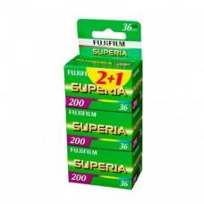 Fuji Superia 200 135-36 2+1 színes negatív filmcsomag