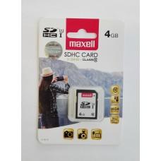 Maxell 4 GB SDHC memóriakártya Class10