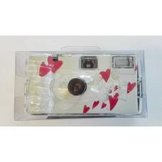 """""""Flying Hearts"""" egyszerhasználatos vakus fényképezőgép 27 felvételhez"""