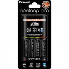 Panasonic Eneloop BQ-CC55E akkumulátor gyorstöltő+4db 2500mAh AA instant akku