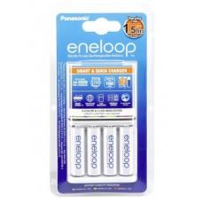 Panasonic Eneloop BQ-CC55E akkumulátor gyorstöltő+4db 1900mAh AA instant akku