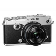 Olympus PEN-F 1718 KIT ezüst/fekete+Manfrotto Befree One alu állvány gömbfejjel+National Geographic Privet válltáska