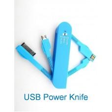 Sunpak USB Power Knife univerzális csatlakozó adapter,kék színben