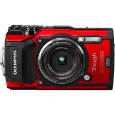 Olympus TG-5 digitális fényképezőgép (piros)+Manfrotto Pocket mini állvány