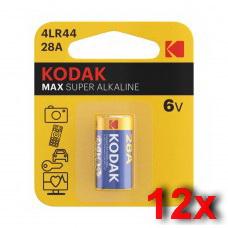 Kodak K28A (4LR44) 6V alkáli elem gyűjtődobozban 12db/csomag