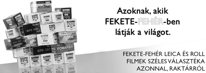 Fekete-fehér filmek széles választéka azonnal, raktárról