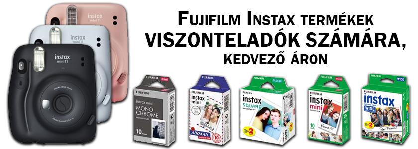 Fujifilm INSTAX termékek kedvező áron VISZONTELADÓKNAK