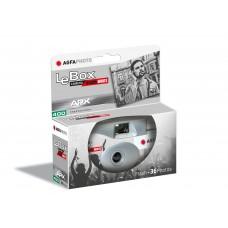 Agfaphoto LeBox Black & White egyszer használatos vakus fényképezőgép 27 felvételhez (fekete-fehér)