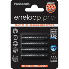 Panasonic  Eneloop Pro AAA 900mAh instant akkumulátor  4db/bliszter (BK-4HCCE/4BE)