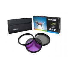 Polaroid 55mm szűrőkészlet UV+CPL+FLD (PL3FIL55)