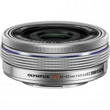 Olympus M.ZUIKO DIGITAL 14-42mm 1:3.5-5.6 EZ (elektronikus zoom) / EZ-M1442EZ objektív ezüst