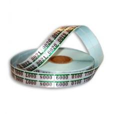 Filmjelző (azonosító) szám, angol, fém 2500 pár/tekercs (Silver Twin Check)