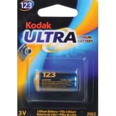 Kodak Ultra K123LA 3V lítium elem