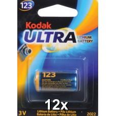 Kodak Ultra K123LA 3V lítium elem gyűjtődobozban 12db/csomag