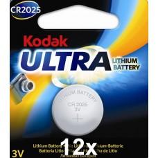 Kodak KCR2025 3V lítium elem gyűjtődobozban, 12 db/doboz