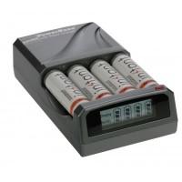 Dörr C-431 LCD akkumulátor gyorstöltő+4db AA instant akkumul...