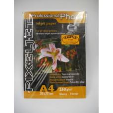 PixelJet A4 260/20 lap inkjet papír fényes felülettel