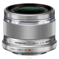 Olympus M.ZUIKO DIGITAL 25mm 1:1.8 / ES-M2518 objektív ezüst
