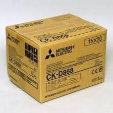 Mitsubishi CK-D868 kioszk papír 10x15cm,papír+fólia, 2x430 print