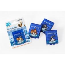 Sanyo Eneloop AA 1900mAh instant akku 4db/bliszter+akku box (Ice Age4)