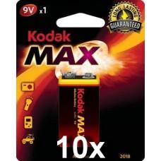 Kodak Max K9V  alkáli elem gyűjtődobozban, 10 bliszter/doboz