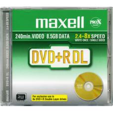 Maxell DVD+R DL 8,5GB 2,4x DVD lemez normál tokban