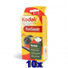 Kodak Fun Saver Flash egyszer használatos vakus fényképezőgép 27 felvételhez 10db/csomag