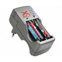 X4 Energy Xact 250 akkumulátortöltő+4db 2600mAh Ni-Mh akkumu...