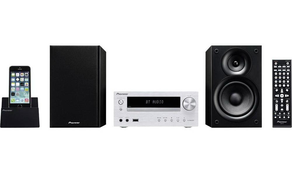Pioneer X-HM32V-S Micro HiFi rendszer, Bluetooth, CD, HDMI, USB, MP3, AM/FM, 2x30W, ezüst színben