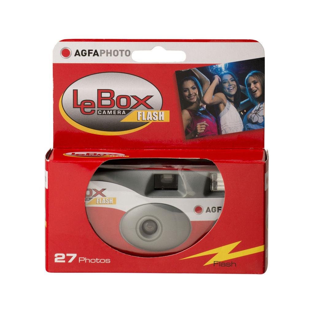 Agfaphoto LeBox Flash egyszer használatos vakus fényképezőgép 27 felvételhez