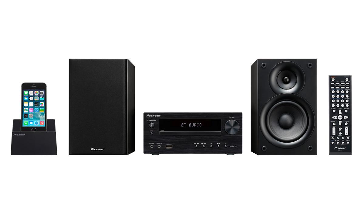 Pioneer X-HM32V-K Micro HiFi rendszer, Bluetooth, CD, HDMI, USB, MP3, AM/FM, 2x30W, fekete színben